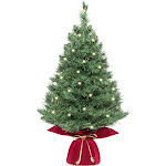 Best Choice Products 26in Pre-Lit Tabletop Artificial Fir Christmas Tree w/ 35 Color Changing LED Lights, 5 Functions