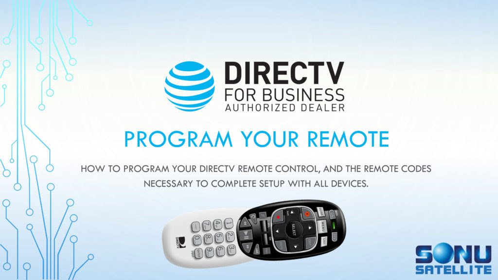 Directv Remote Codes Directv For Business 877 999 7668