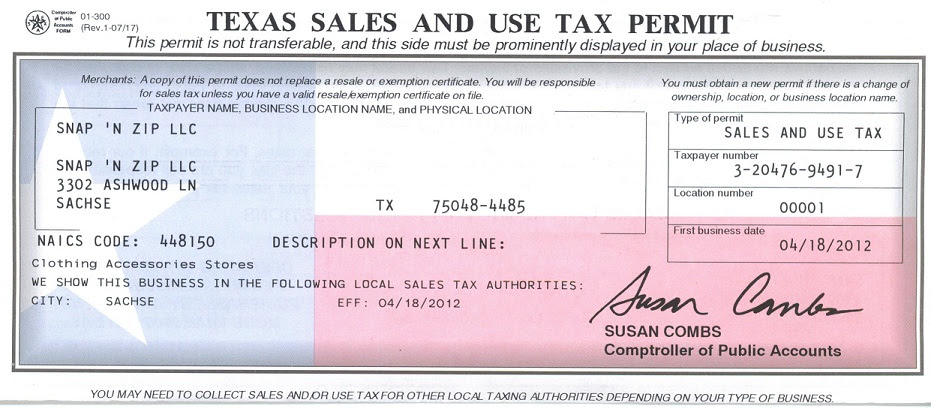 tax texas business number permit sales pdf application docx science health center ut