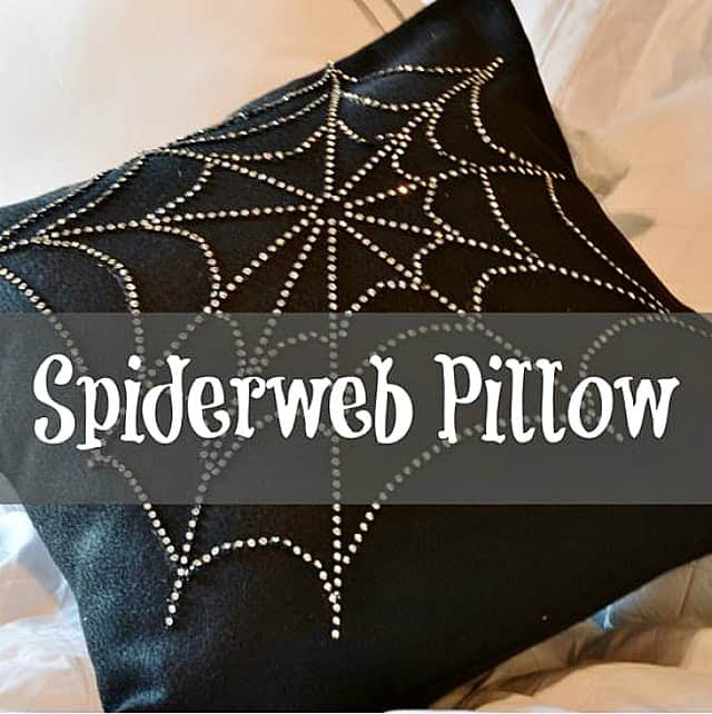 Spider Web Pillow Tutorial