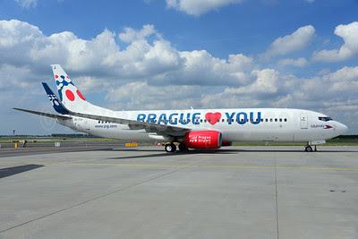 Travel Service Airlines (Czech Republic) Boeing 737-8Z9 WL OK-TVX (msn 33833) (Prague loves you - Prague Airport) AMS (Ton Jochems). Image: 912156.