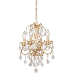 Vaxcel NC-CHU004GW Newcastle Gilded White Gold 4 Light Mini Chandelier