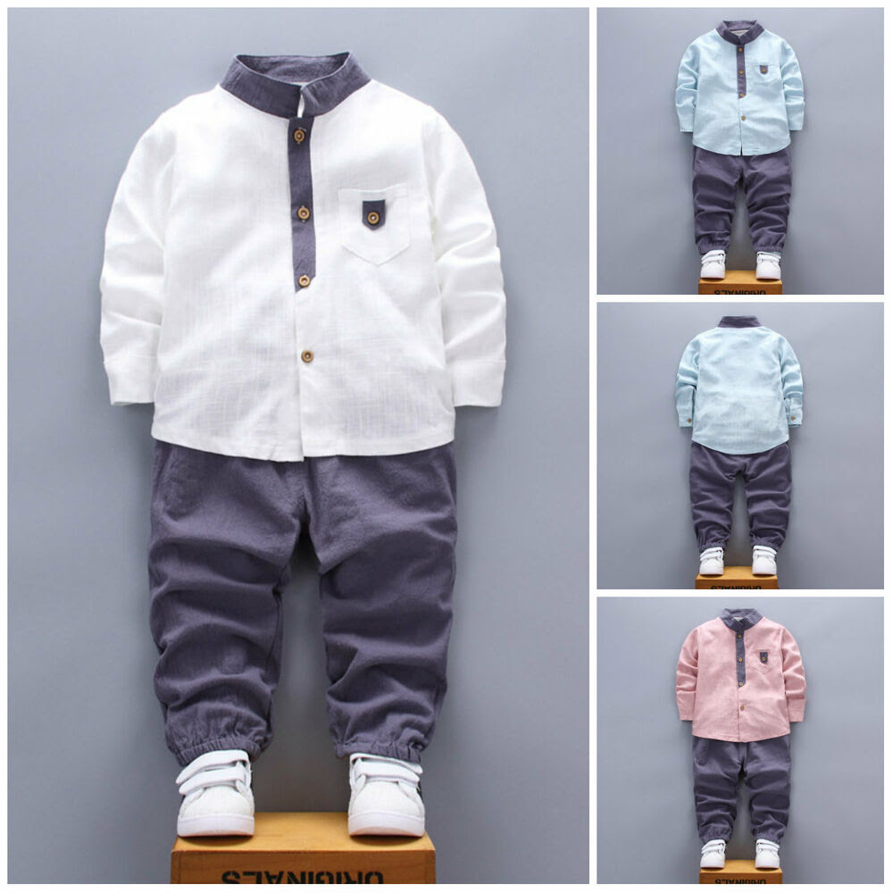 2pcs kids baby clothes boys clothes cotton outfits shirt