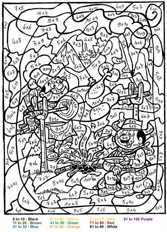 Get This Difficult Color by Number Pages for Grown Ups ...