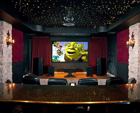 amusing home theatre decorating ideas give comfortable