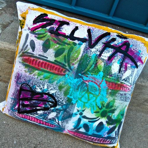 Graffiti Pillow by Silvia