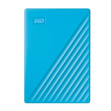 (Renewed) WD 2TB My Passport Portable External Hard Drive, Blue - with Automatic Backup, 256Bit AES Hardware Encryption & Software Protection
