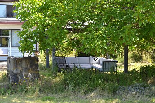 Gazebo next to the Walnut tree