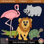 Zoo Animals 1 Clipart - CU