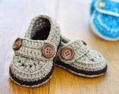 CROCHET PATTERN Baby Boy Loafers Easy photo tutorial crochet pattern for Baby Booties Crochet shoes Digital file Instant Download