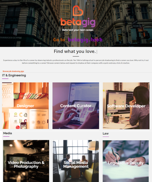 Lightning Pitch: Betagig - Beta test a career - StartUp Beat