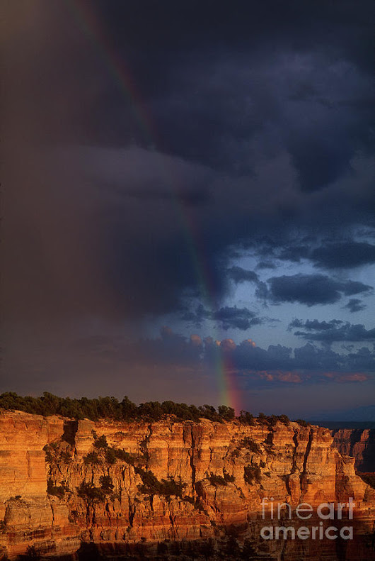 Rainbow Cape Royal North Rim Grand Canyon National Park by Dave Welling