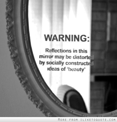 Warning Reflections In This Mirror May Be Distorted By Socially