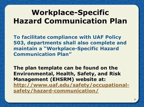 Cal Osha Hazard Communication Program Template   Templates