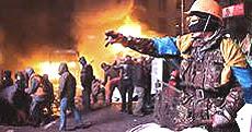 Gli scontri a Kiev