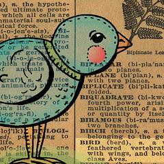 !940s Dictionary bird 2