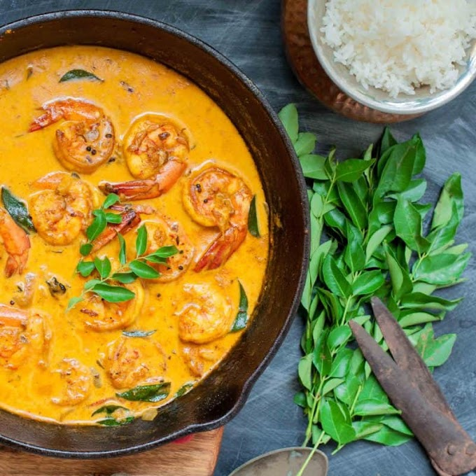 PRAWNS COCONUT CURRY