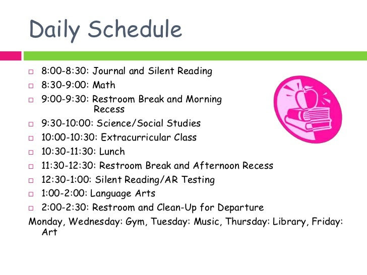 Daily 5 Schedule 1st Grade   Daily Planner