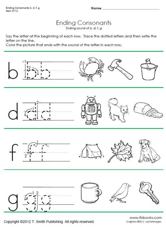Consonant Letters Worksheets For Kindergarten - Letter