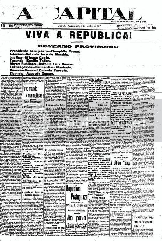 A Capital de 5-10-1910