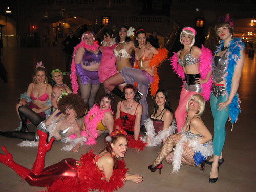 New York School of Burlesque in Grand Central Station