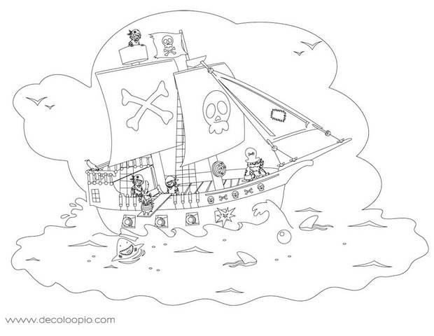 【Les plus recherchés】 Pirate Des Caraibes Coloriage