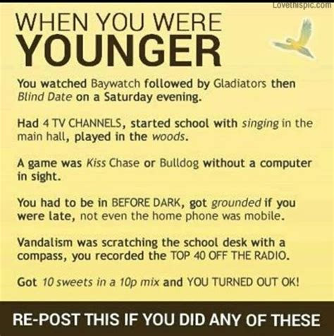 When I Was Young Quotes Funny