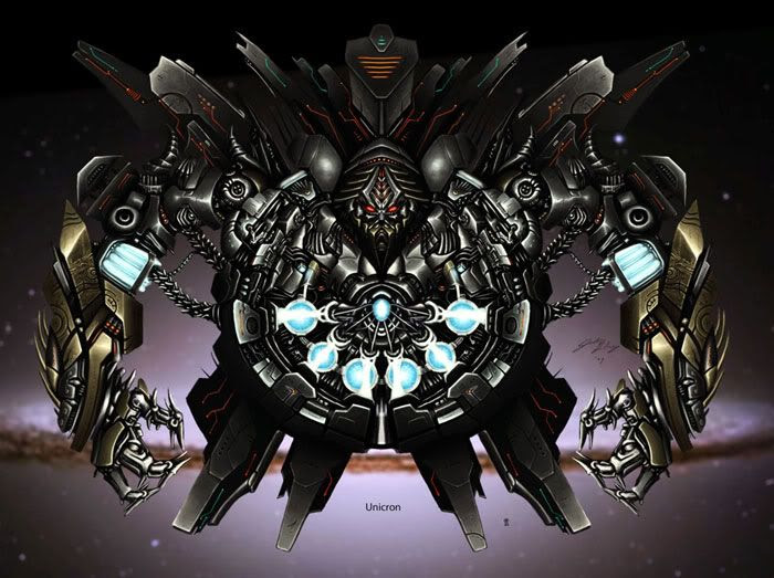 UNICRON concept artwork... Note the 'speck' of Optimus Prime towards the bottom of the artwork for size reference.