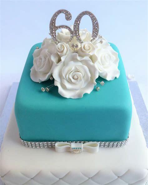 2 tier Square Tiffany Blue Cake   Karen's Cakes