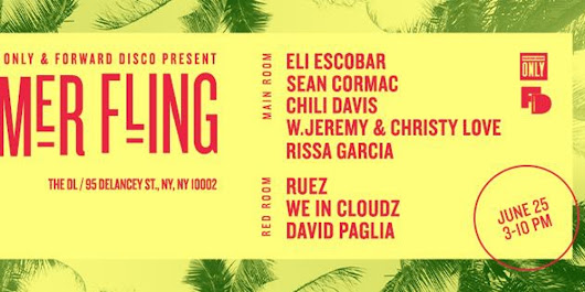 Summer Fling W/Eli Escobar, W.Jeremy & Christy Love, Sean Cormac & Chili Davis, Rissa Garcia + more at The DL Rooftop