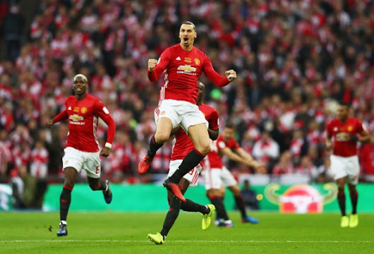 Red Hot Zlatan Secures EFL Cup Title For Mou's Man Utd