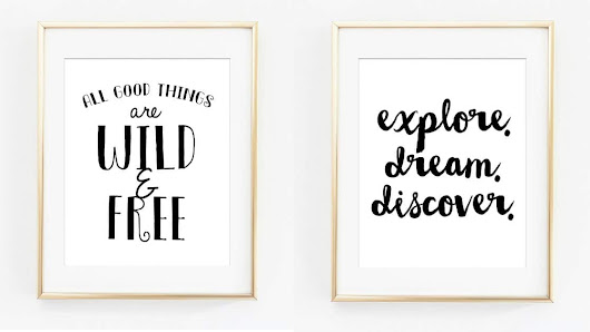 Free Printable Black & White Nursery Artwork