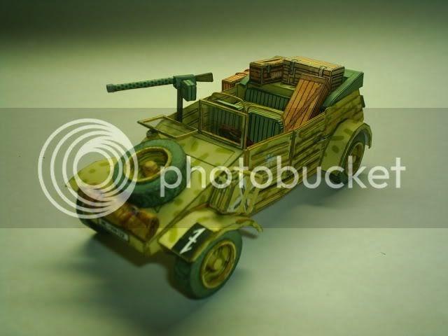 papermau ww german kubelwagen paper model  toni mauricio