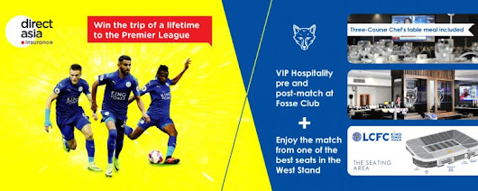 WIN a trip to Watch Leicester City vs Liverpool LIVE With DirectAsia Insurance - DirectAsia Insurance