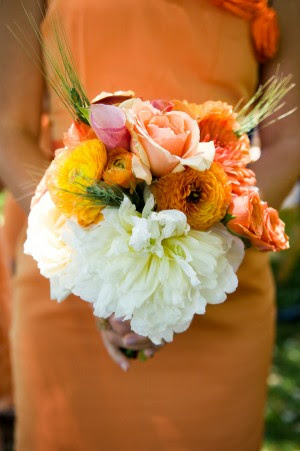 Orange-and-White-Bouquet
