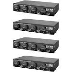 Studio Z Dual Source 900 Watt 4 Channel Stereo Speaker Selector Box (4 Pack) by VM Express