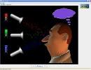 Screenshot of the simulation Έγχρωμη όραση