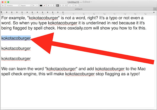 How to Add a Word or Spelling to Spellcheck on Mac