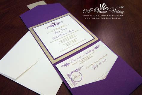 Royalty and Elegant Purple Wedding Invitations   Wedding