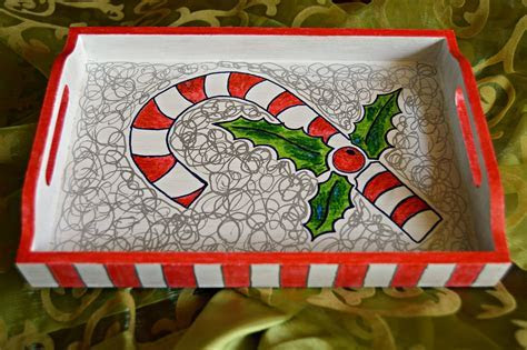 Candy Cane Christmas Tray   Cheap Eats and Thrifty Crafts