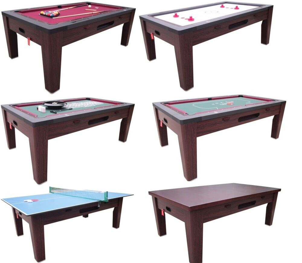 6 in 1 COMBO GAME TABLE~POOL~AIR HOCKEY~PING PONG~ROULETTE ...