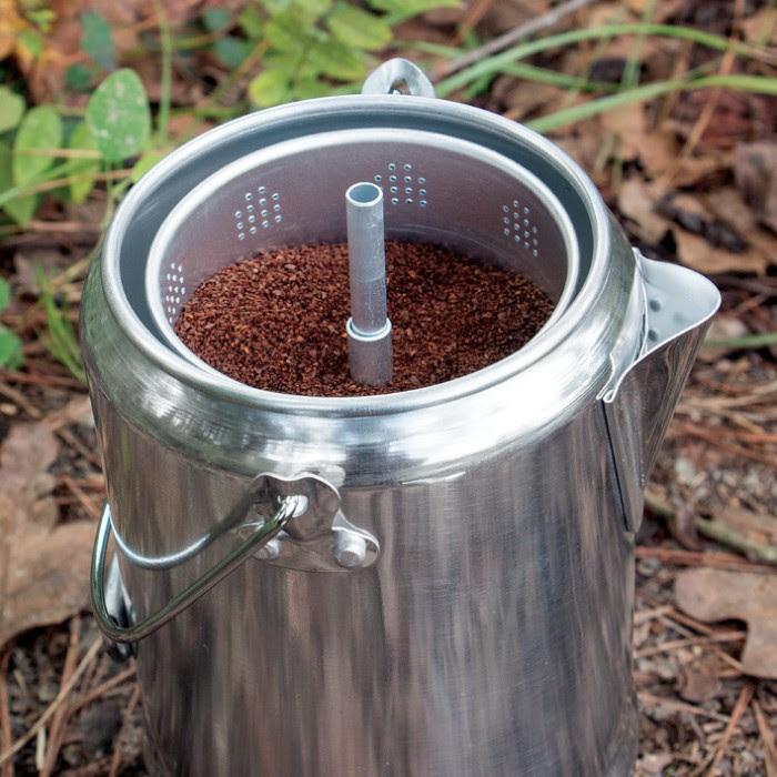 Trailblazer 9-Cup Aluminum Percolator Coffee Pot | CHKadels.com | Survival & Camping Gear