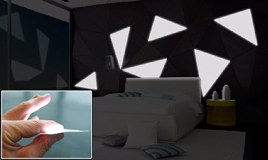 The 'lightpaper' that can turn your walls into lamps