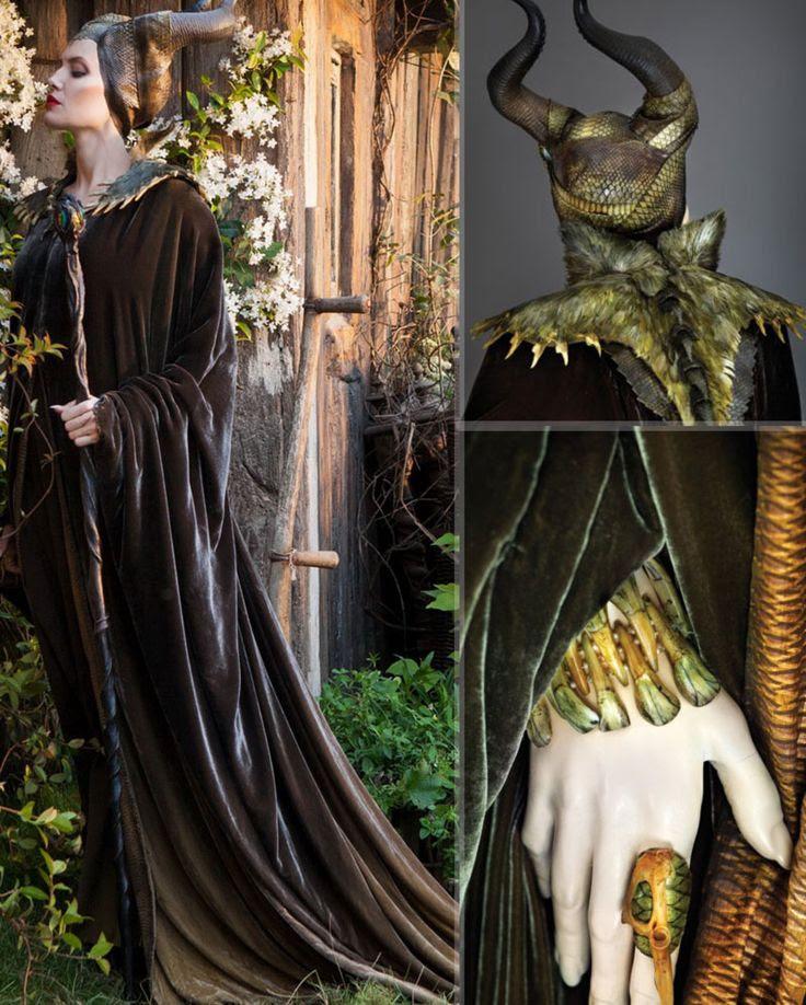 Maleficent Angelina Jolie costume snakeskin horns ring