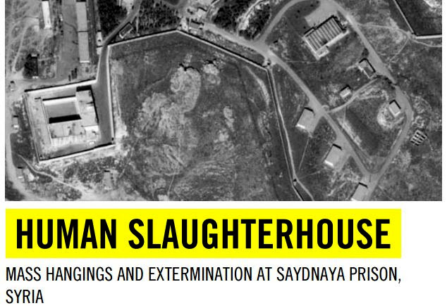 Screenshot of the coverage of Amnesty's report on alleged abuses at the Saydnaya Prison in Syria.