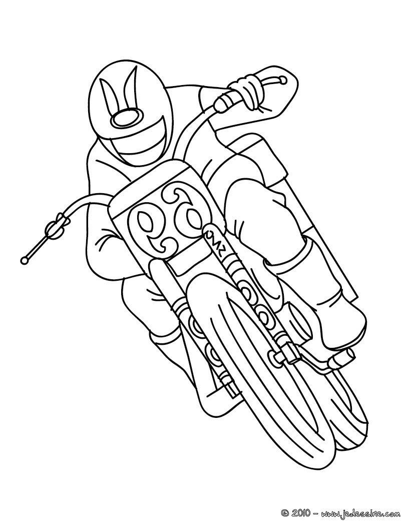 Coloriage moto de course gratuit