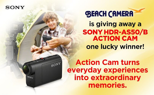 Beach Camera is giving away a SONY Action Camera!