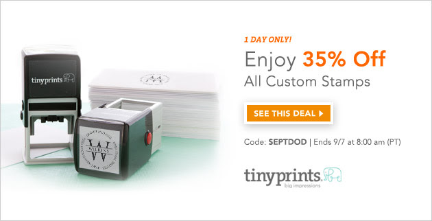 Tiny Prints Deal of the Day - Custom Self-Inking Stamps