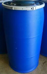 35 Gallon Plastic Barrel Food Grade HDPE Blue Open Top ...