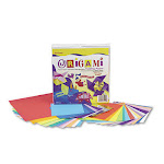 Pacon 72230 Origami Paper- 30 lbs.- 9-3/4 x 9-3/4- Assorted Bright Colors- 55 Sheets/Pack